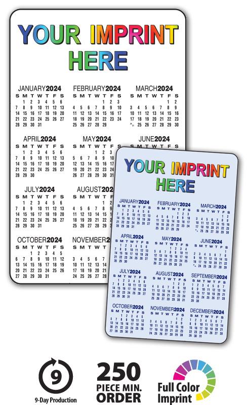 2020 Wallet Calendars 3 5 Quot X 2 25 Quot Customized Card Calendar