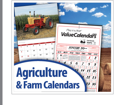 Promotional Agricultural Calendars | Custom Agriculture Calendars | Farm Calendars