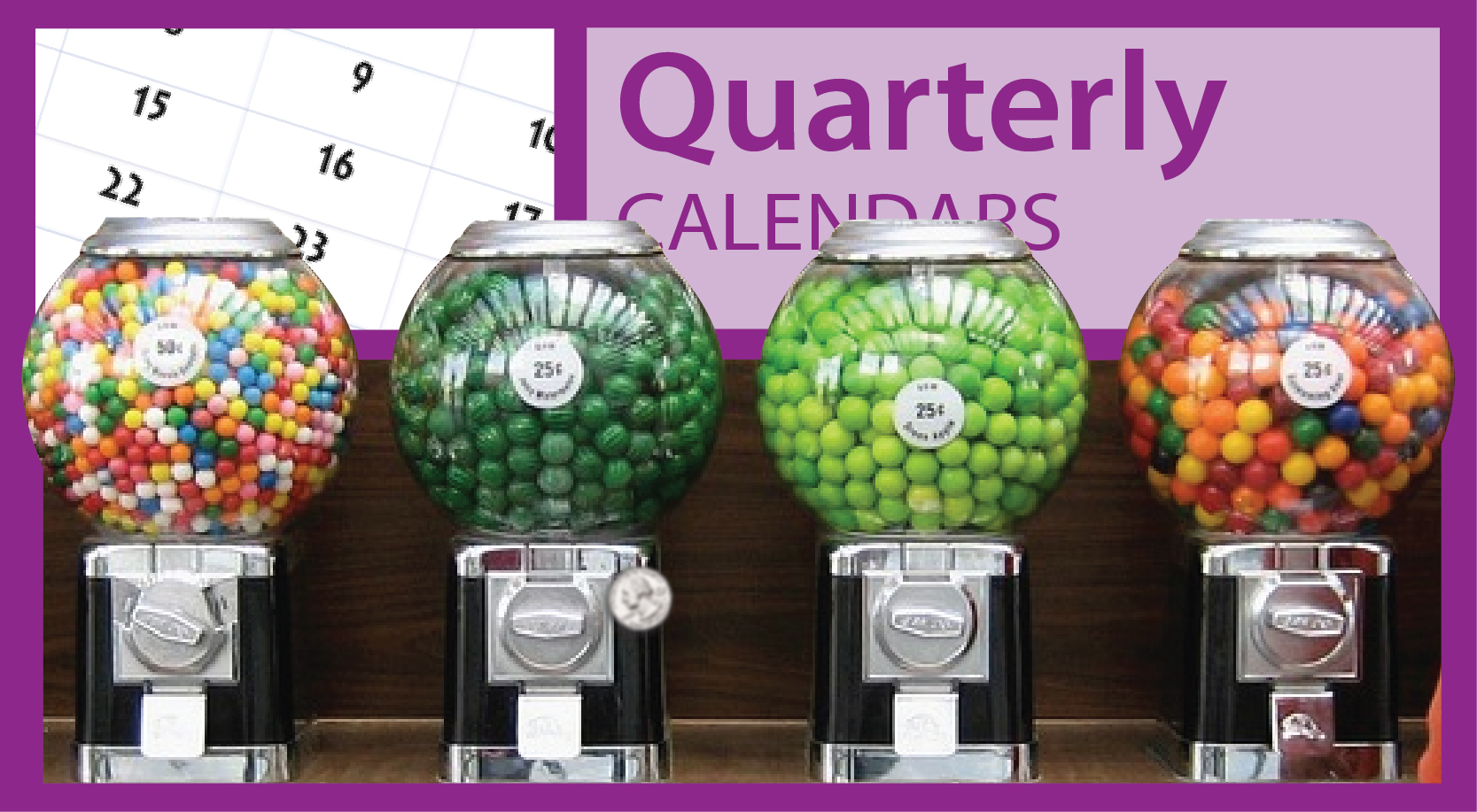 Promotional Quarterly (3-Month View) Calendars