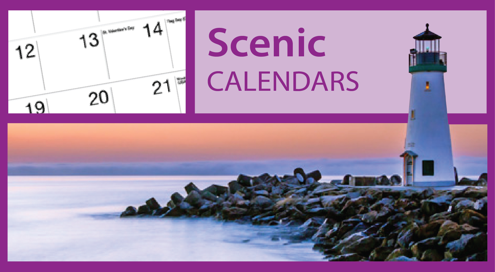 Scenic Lighthouse Calendars | Lighthouse Greeting Card Calendars