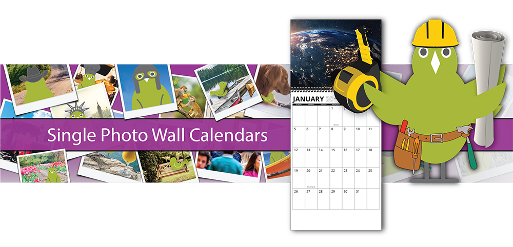 Single Photo Wall Calendars | Custom Photo Calendars