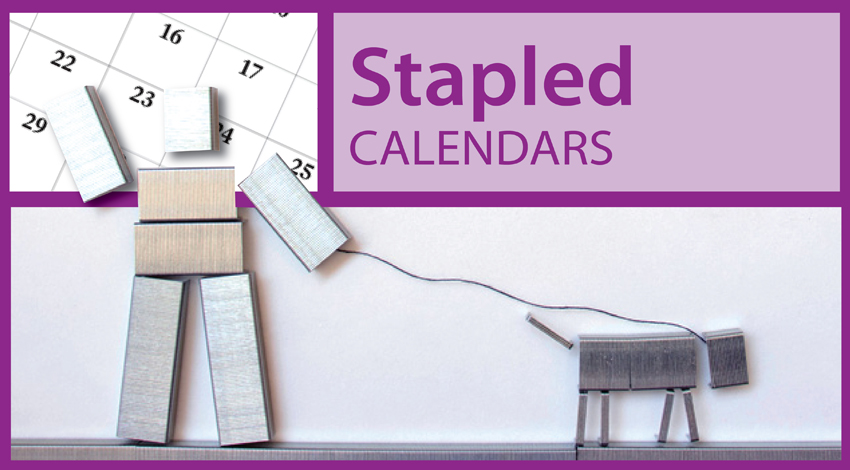 Brand Personalized Stapled Wall Calendars, Promotional Stapled Appointment Calendars