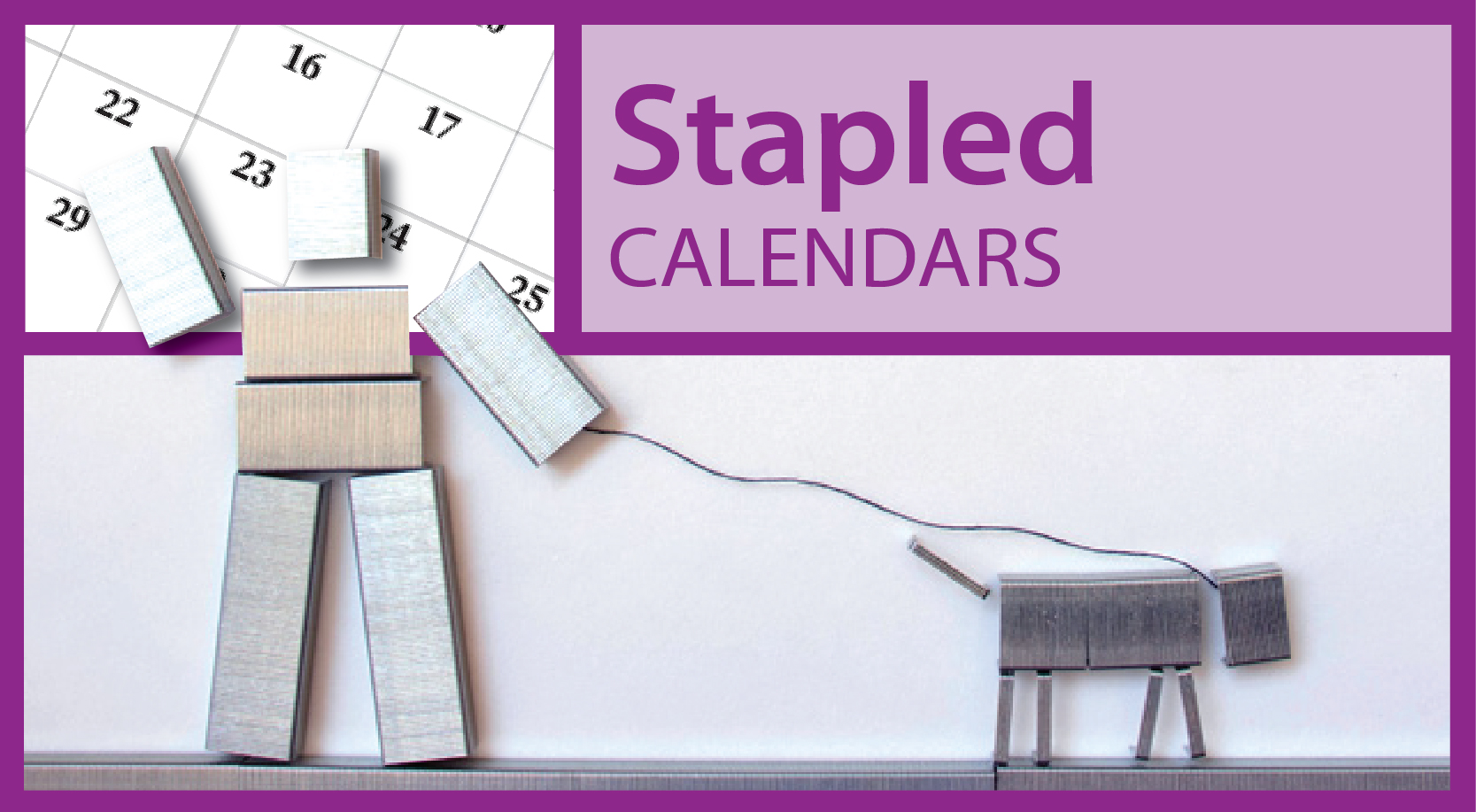 Promotional Staple Bound Wall Calendars