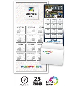 Custom Photo Z-Fold Greeting Card Calendar