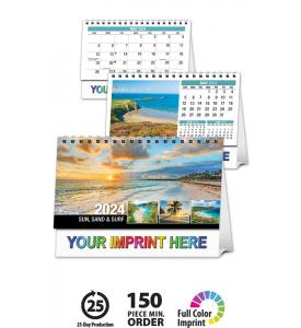 Sun, Sand & Surf Desk Tent Calendar