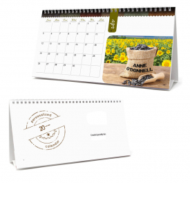 Image Personalized, Large Desk Tent Calendar
