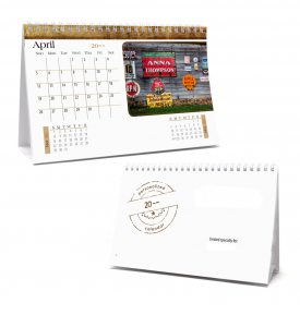 Image Personalized, Mid-Size Desk Tent Calendar