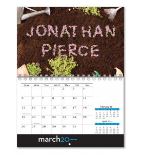 Image Personalized Individual Name Mini Wall Calendar