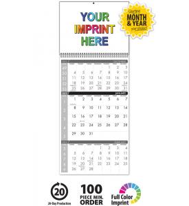 Single Photo 3-Month Wall Calendar
