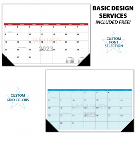 Custom Desk Pad Calendar (17x12, 12-Sheet)