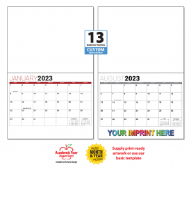 Custom Photo Wall Calendar (11x17, Stapled, 13-Month 'BASIC' Grid)