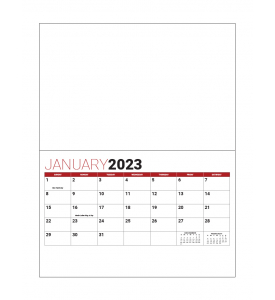 Custom Stapled Mini Wall Calendar (8.5x11, 13-Month)