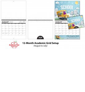 Custom Twin-Loop Wall Calendar (11x17, 12-Month)