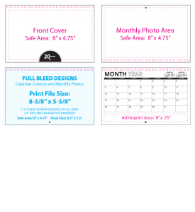 Custom Twin-Loop Mini Wall Calendar (8.5x11, 12-Month)