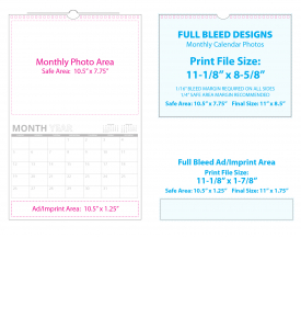 Custom TOP Twin-Loop Wall Calendar (11x17, 12-Month)
