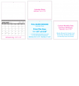 Custom Tear Sheet Single Photo Calendar (11x17, 12-Month)