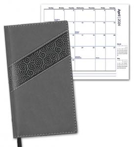 Duo Swirl Pocket Planner, Monthly