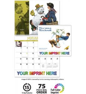 Norman Rockwell Wonderful World Spiral Calendar