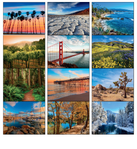 California Spiral Calendar