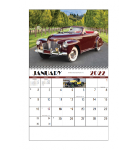 Automotive Classics Spiral Calendar