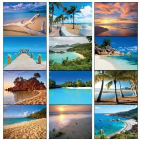 Beaches Dreams Spiral Calendar