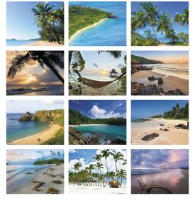 Beaches Dreams Spiral Calendar