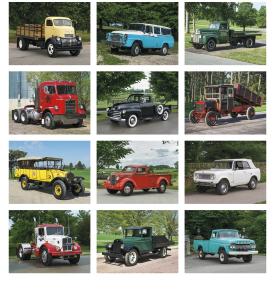 Classic Trucks Spiral Calendar