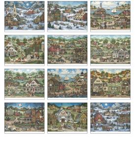 Folk Art by Bonnie White Calendar