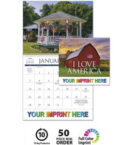 I Love America Calendar