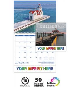 Lighthouses Spiral Calendar
