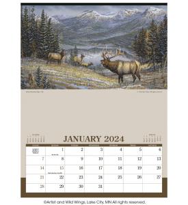 Wildlife Art (12 Sheet) Calendar