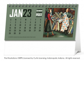 The Saturday Evening Post Desk Calendar