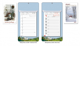 Weekly Board Calendars w/Easel Back - MOUNTAIN