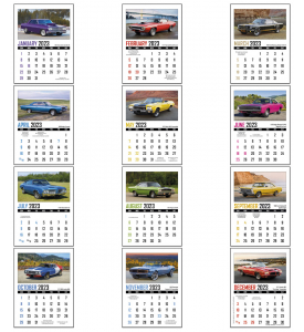Norwood Full Color Stick Up, Memorable Muscle Calendar