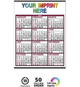 Big Numbers Span-A-Year Calendar