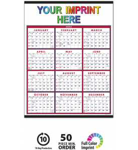Span-A-Year - Blue & Red Calendar