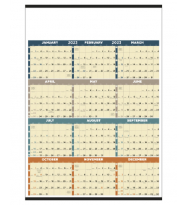 Time Management Span-A-Year (Non-Laminated) Calendar