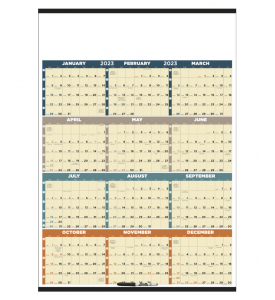 Time Management Span-A-Year (Laminated) Calendar