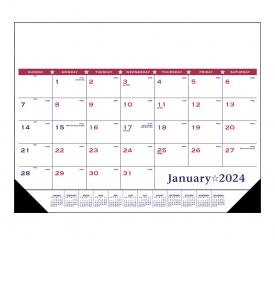 Desk Pad Calendar, Patriotic Vinyl Corner