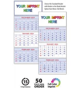 Commercial Planner Calendar, Red & Blue