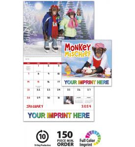 Monkey Mischief Spiral Calendar