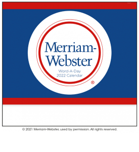 Word-A-Day by Merriam-Webster Calendar