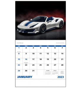 Exotic Sports Cars Calendar X Imprinted Staple - Sports cars calendar 2018
