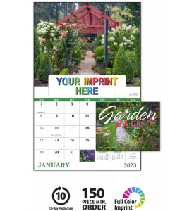 Garden Walk Window Calendar
