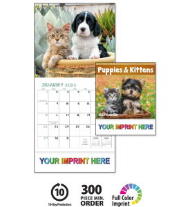 Puppy & Kittens Mini Calendar