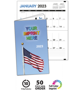 Colorful Impressions Monthly Pocket Planner - PATRIOTIC
