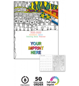 Academic Adult Coloring Book Planner