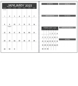 Monthly Happening Planner