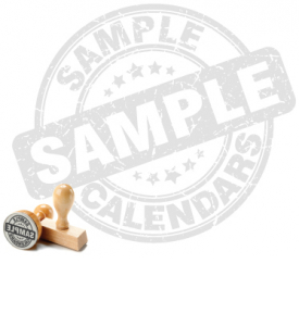 Sample Calendar (Random Imprint)