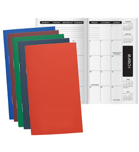 Academic SEAM Colors Stitched Pocket Planner, Monthly (August Start)